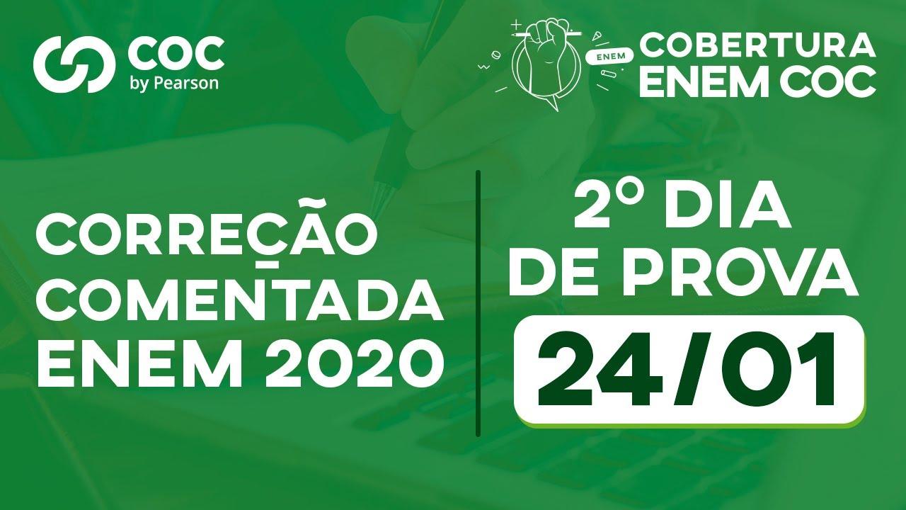 GABARITO ENEM 2020 - 2º DIA DE PROVA 24/01 - COC