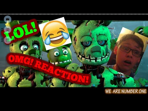 """SLIP AND SLIDE ON THIS BANNANA PEEL!!! [FNaF SFM]"""" We Are Number One But SpringTrap!!!""""REACTION!!!"""