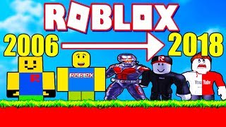 ROBLOX 2006-2018 UDVIKLING - ROBLOXS HISTORIE OBBY - DANSK ROBLOX