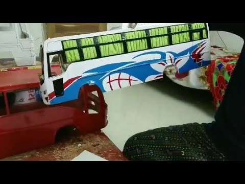 Miniature Model Bus Making Video Part 12 Body Design And Graphics Work Youtube