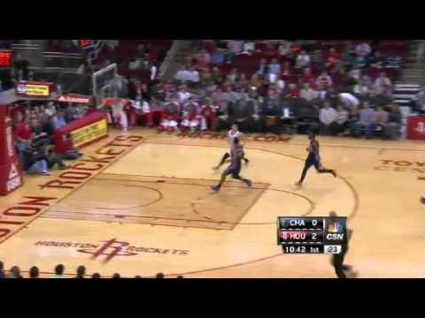 Lin on Steal | Bobcats vs Rockets  | NBA 2012-13 Season 02/02/2013