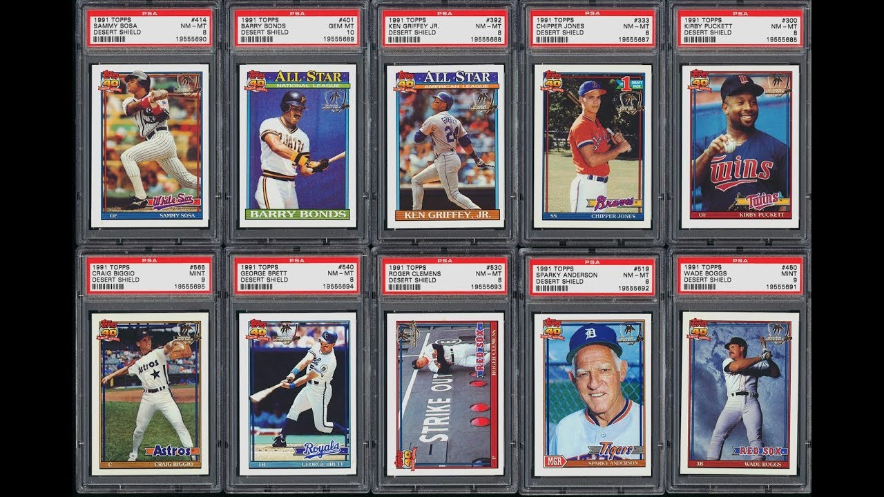 1991 Topps Desert Shield Baseball Set Sells For 75872