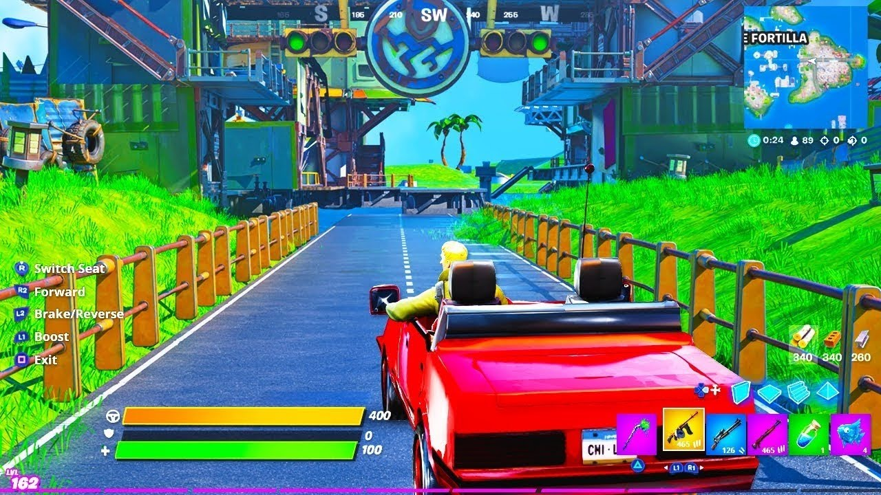 Fortnite Cars Update Out Right Now Fortnite Cars Update Youtube