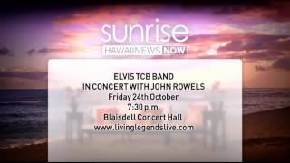 john rowles and the elvis tcb band perform in studio for sunrise hawaii news now kgmb and khnl