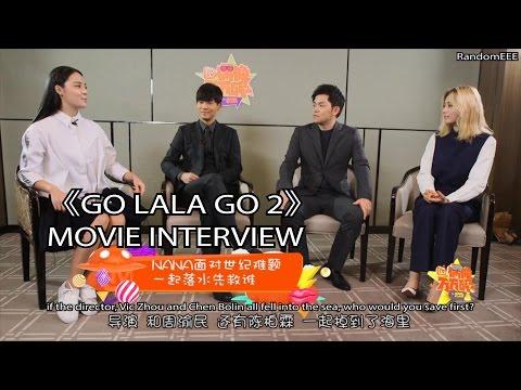 [ENG] 151123 Nana @ 《Go Lala Go 2》 Movie Interview with Vic Zhou & An Zhujian