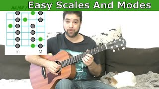 The Easiest Scales and Modes Lesson Ever (The INTUITIVE Method) - Guitar Tutorial