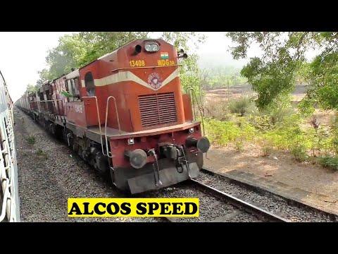Twin ALCO Freight & ALCO Mangalore Mumbai SF Speed Crossings