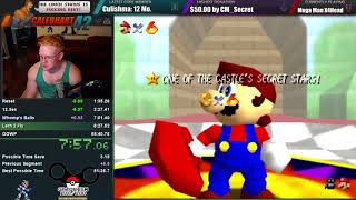 Super Mario 64 70 Star Speedrun (54:36): PB!!!!