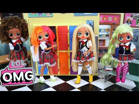 LOL OMG Doll Family First Day Of High School Morning Routine - Barbie Classroom