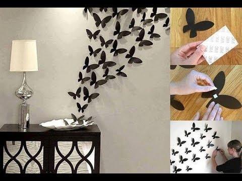 Diy como hacer mariposas para pared super facil y rapido - Mariposas decoracion pared ...