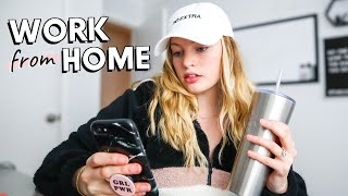 My WORK FROM HOME Routine 2020 // How I Stay Productive While Working From Home (day in my life)
