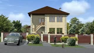 Двухэтажный жилой дом на двух хозяев