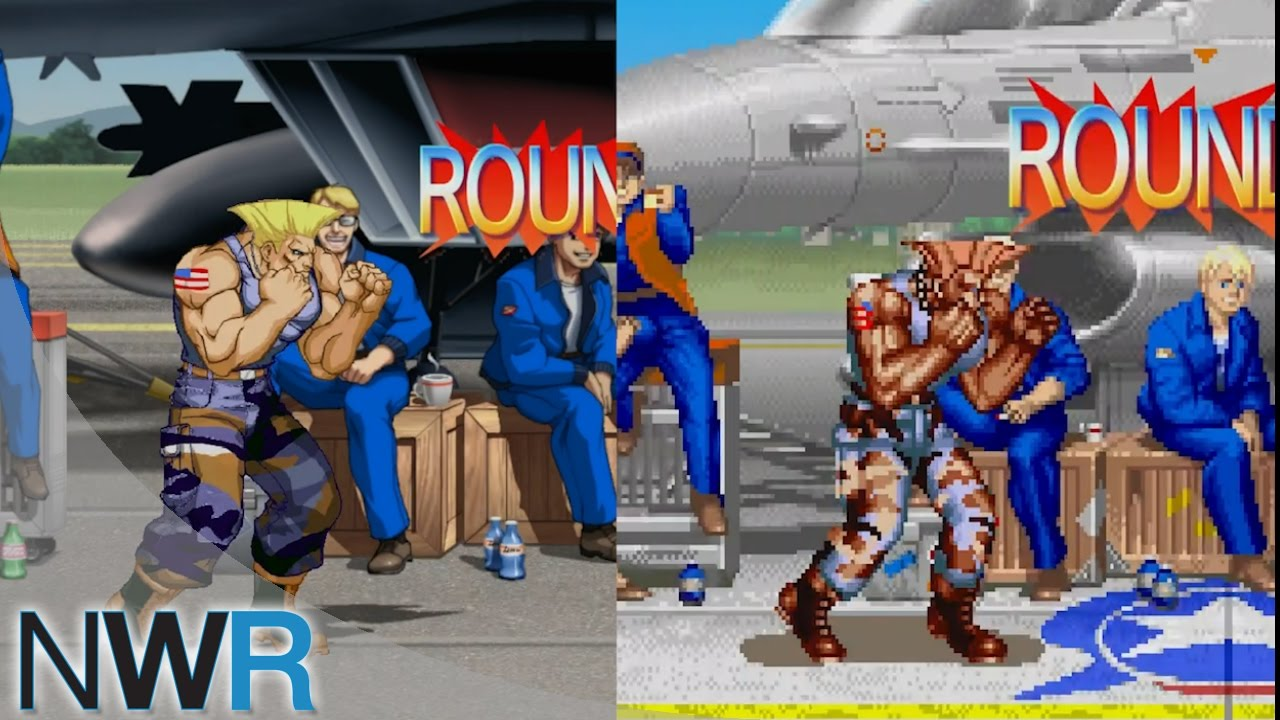 Ultra Street Fighter Ii Guile S Stage Comparison Hd Vs Classic