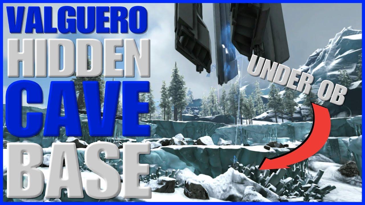 ARK VALGUERO hidden cave base location UNDER BLUE OB ! (unofficial)