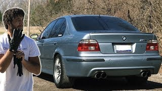 BMW M3 Driver Drives My BMW E39 M5 *STRAIGHT PIPED*
