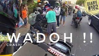 Ada Yang PECAH! Lalu CRASH!! | Bandung To Indonesia Motovlogger Day #2 (Diary #102)