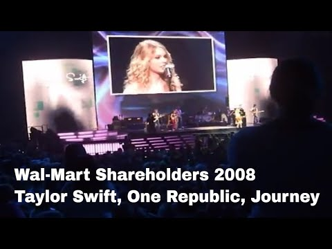 Wal-Mart Shareholders Meeting 2008 Taylor Swift, Journey, One Republic