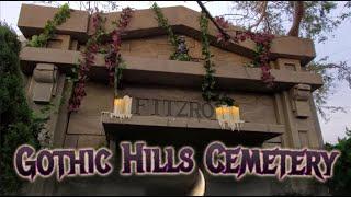 Make A Haunted House - Gothic Hills Cemetery Walkthrough Tour - DIY Halloween Prop Ideas