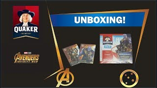 Quaker Oats Avengers Infinity War Edition Include Collectible Card Inside (UNBOXING)