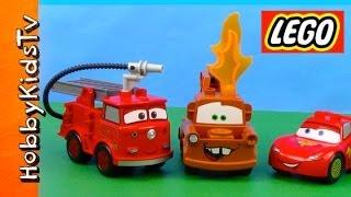 Lego Cars Duplo Firetruck Set Box Opening + Review HobbyKidsTV thumbnail