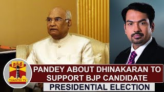 "Rangaraj Pandey about ""TTV Dhinakaran to Support BJP Candidate in Presidential Election"""
