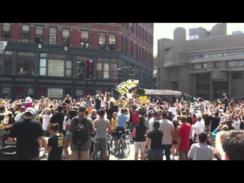 Bruins Stanley Cup Victory Parade Duckboat #1 corner of Causeway Street