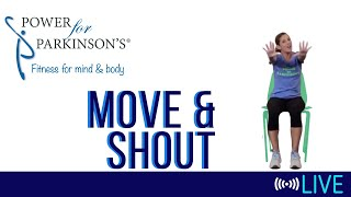 Power for Parkinson's Tuesday Move & Shout - Live Streaming Day 171