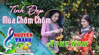 [Karaoke nhạc sống] Tình Đẹp Mùa Chôm Chôm - Tone Nam (Rumba Cực Hay)