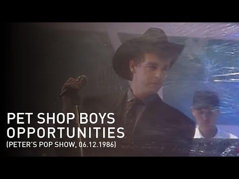 Pet Shop Boys - Opportunities (Let's Make Lots of Money) (Peters Pop-Show, 06.12.1986)