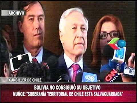 Canciller de Chile: Bolivia NO CONSIGUIO SU OBJETIVO