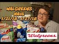WALGREENS HAUL 1/21/18 - 1/27/18   Cheap cereal, bath tissue & more!