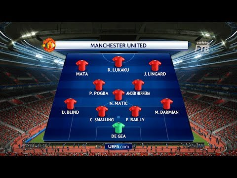 Manchester United vs FC Basel | UEFA Champions League Full match & Gameplay PC | PES 2017