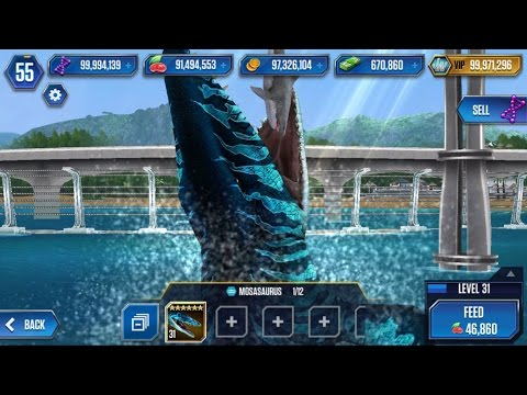 MOSASAURUS Legendary Max Lv40 Look STRONGER - Jurassic World The Game