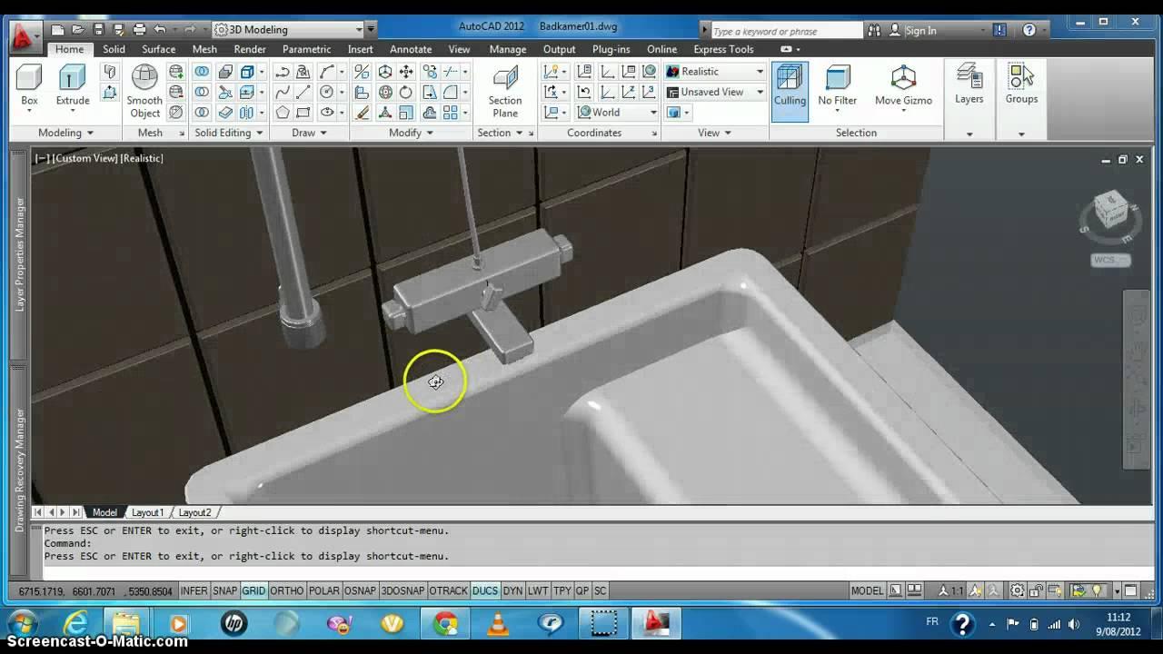 Mijn ontwerp badkamer autocad youtube - Ontwerp badkamer model ...