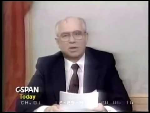 25/12/1991 Mikhail Gorbachev Resignation Speech Отставка Горбачева
