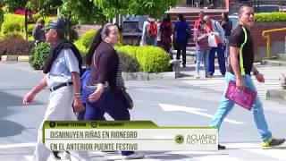 Disminuyen riñas en Rionegro en el anterior puente festivo