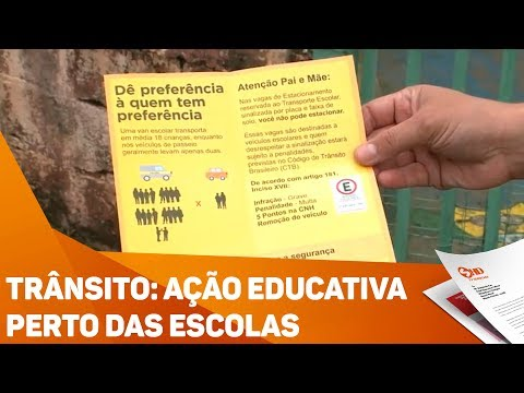 Trânsito: Ação educativa perto das escolas - TV SOROCABA/SBT