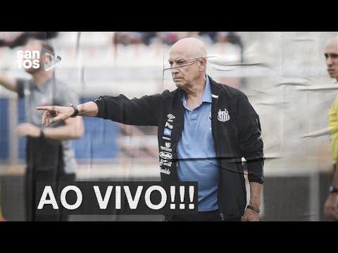 Técnico do Santos volta a discutir com repórteres de rádio após empate com Palmeiras