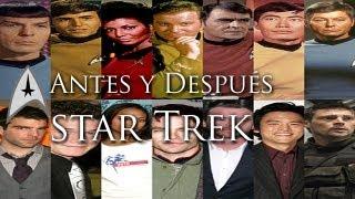 Antes y después de la tripulación del USS Enterprise // Star Trek into Darkness // en la oscuridad