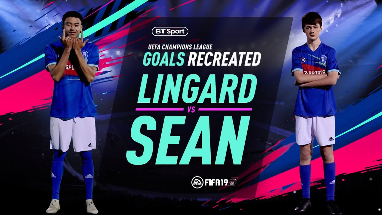 3b2f970ad Champions League Goals Recreated  Jesse Lingard - YouTube