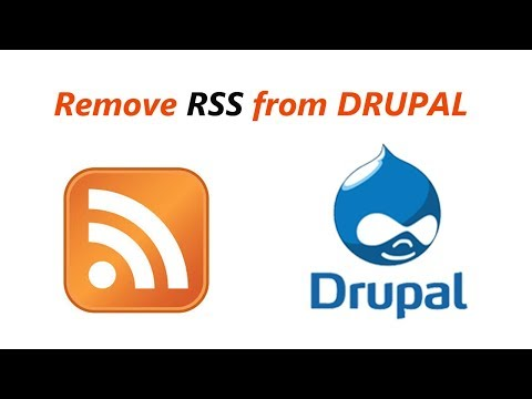 How to remove RSS feed logo from the frontpage of a Drupal 8 website