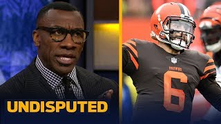 Skip and Shannon disagree on the interpretation of Baker Mayfield's actions | NFL | UNDISPUTED