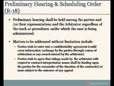 Healthcare Payor Provider Arbitration Rules - Neutrals Orientation