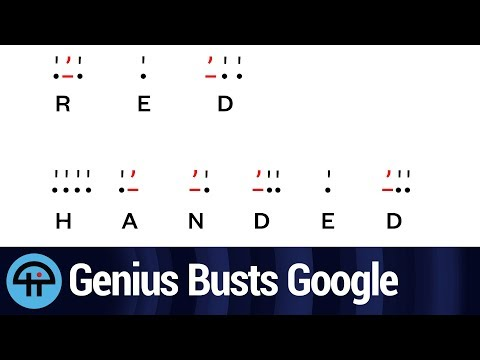 Genius Catches Google 'Red Handed'