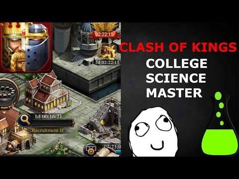 SCIENCE MASTER (CLASH OF KINGS TIPS AND TRICKS)