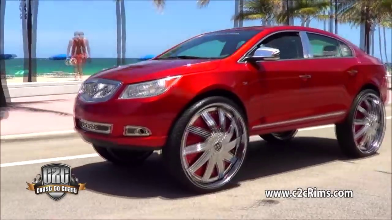 "32"" DUB Spinners on 2012 Buick Lacrosse - YouTube"