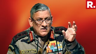 India Army Chief General Bipin Rawat Addresses Media, Remarks On India's Military Prowess