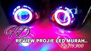 Review & unboxing lampu projie seharga Rp.119.000 (terbaru & termurah )