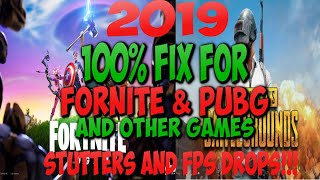 2018- 100% FIX PUBG AND OTHER GAME STUTTERS AND FRAME DROPS!! FINALLY!