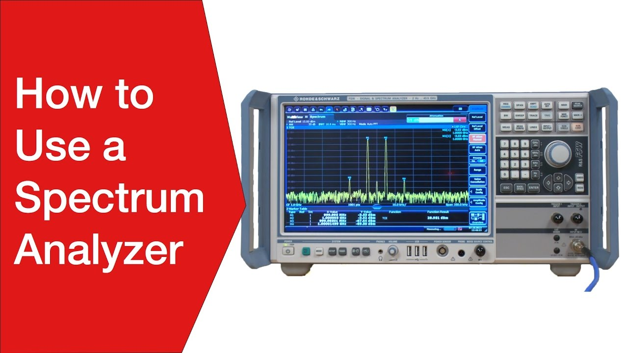 How to Use a Spectrum Analyzer: Operation » Electronics Notes